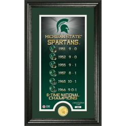 "Michigan State University ""Legacy"" Bronze Coin Panoramic Photo Mint"