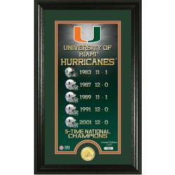 "University of Miami ""Legacy"" Bronze Coin Panoramic Photo Mint"