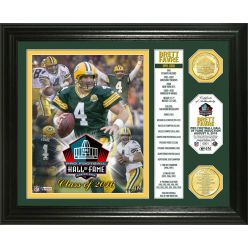 "Brett Favre 2016 Pro Football HOF Induction ""Banner"" Bronze Coin Photo Mint"