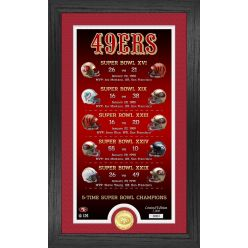 San Francisco 49ers Legacy Bronze Coin Photo Mint