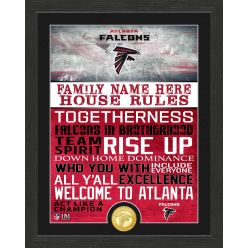 Personalized Atlanta Falcons House Rules Bronze Coin Photo Mint