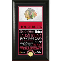 Chicago Blackhawks Personalized House Rules Bronze Coin Photo Mint