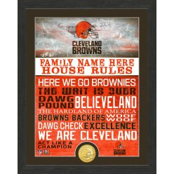 Personalized Cleveland Browns House Rules Bronze Coin Photo Mint