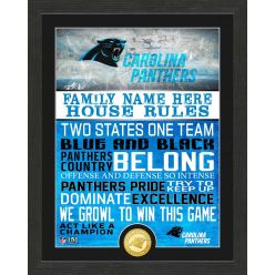 Personalized Carolina Panthers House Rules Bronze Coin Photo Mint
