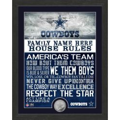 Personalized Dallas Cowboys House Rules Minted Coin Photo Mint