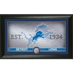 Detroit Lions Personalized Man Cave Bronze Coin Photo Mint
