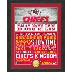 Personalized Kansas City Chiefs House Rules Bronze Coin Photo Mint