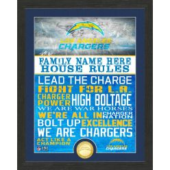 Personalized Los Angeles Chargers House Rules Bronze Coin Photo Mint