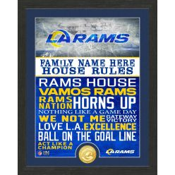 Personalized Los Angeles Rams House Rules Bronze Coin Photo Mint