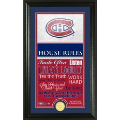 Montreal Canadiens Personalized House Rules Bronze Coin Photo Mint