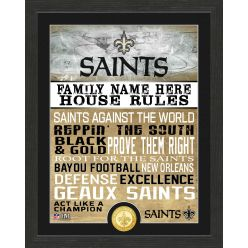 Personalized New Orleans Saints House Rules Bronze Coin Photo Mint