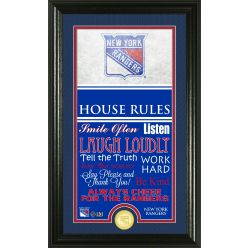 New York Rangers Personalized House Rules Bronze Coin Photo Mint