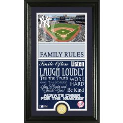 Personalized New York Yankees House Rules Photo Mint