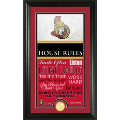 Ottawa Senators Personalized House Rules Bronze Coin Photo Mint