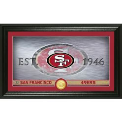 San Francisco 49ers Personalized Man Cave Bronze Coin Photo Mint