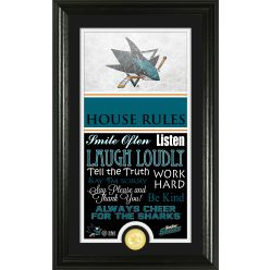 San Jose Sharks Personalized House Rules Bronze Coin Photo Mint