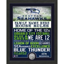 Personalized Seattle Seahawks House Rules Minted Coin Photo Mint