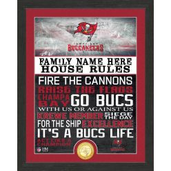 Personalized Tampa Bay Buccaneers House Rules Bronze Coin Photo Mint