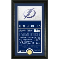 Tampa Bay Lighting Personalized House Rules Bronze Coin Photo Mint