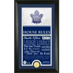 Toronto Maple Leafs Personalized House Rules Bronze Coin Photo Mint