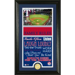 Texas Rangers Personalized Family Rules PhotoMint