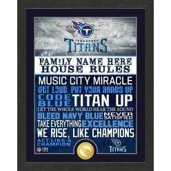Personalized Tennessee Titans House Rules Bronze Coin Photo Mint