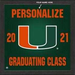 University of Miami Personalized 2021 Graduation Pride Photo Mint