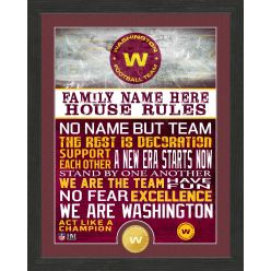 Personalized Washington Football Team House Rules Bronze Coin Photo Mint