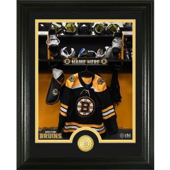 Boston Bruins Personalized Locker Room Bronze Coin Photo Mint
