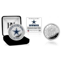 Personalized Dallas Cowboys Name Silver Plated Color Coin
