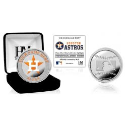 Houston Astros Personalized Name Silver Plated Color Coin