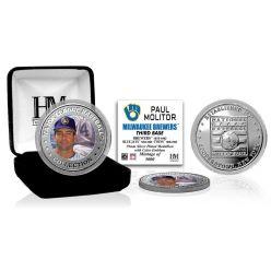 Paul Molitor Baseball Hall of Fame Silver Color Coin