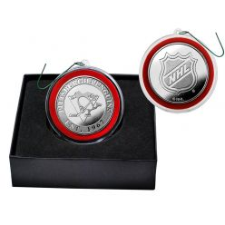 Pittsburgh Penguins Silver Coin Ornament