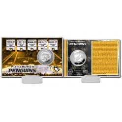 Pittsburgh Penguins History Silver Coin Card