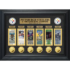 Pittsburgh Steelers 6-Time Super Bowl Champions Deluxe Gold Coin Ticket Collection