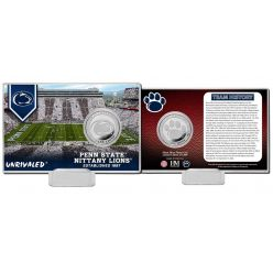Penn State University Team History Silver Coin Card
