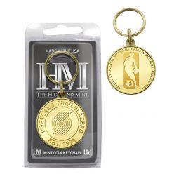 Portland Trailblazers Bronze Coin Keychain