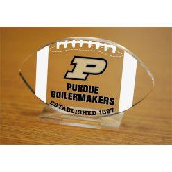 Purdue University Etched Football Acrylic