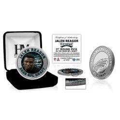 Philadelphia Eagles Jalen Reagor 2020 NFL Draft 1st Round Silver Coin