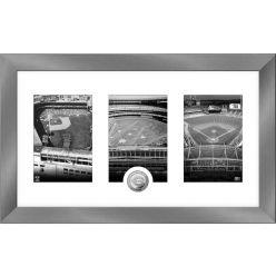 Cincinnati Reds Stadium Panoramic Art Deco Silver Coin Photo Mint