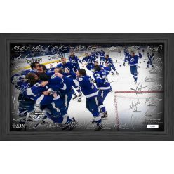 Tampa Bay Lightning 2021 Stanley Cup Final Champions Celebration Signature Rink