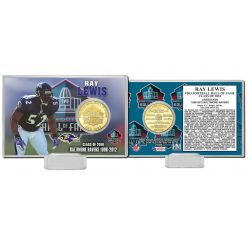 Ray Lewis 2018 Pro Football HOF Induction Bronze Coin Card