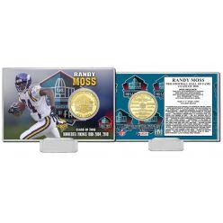 Randy Moss 2018 Pro Football HOF Induction Bronze Coin Card