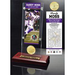 Randy Moss 2018 Pro Football HOF Induction Ticket & Bronze Coin Acrylic Desk Top