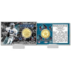Roger Staubach Pro Football Hall of Fame Bronze Coin Card