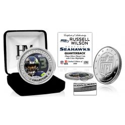 Russell Wilson Silver Color Coin