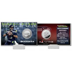 Russell Wilson 2020 Silver Mint Coin Card