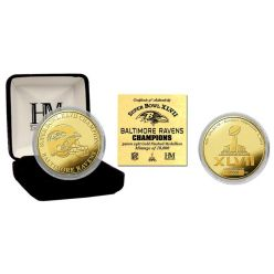 Ravens Super Bowl XLVII Champions Gold Coin
