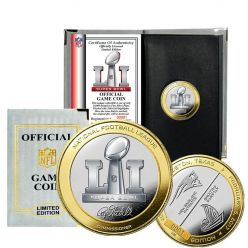 Patriots vs Falcons Super Bowl 51 Official Two-Tone Flip Coin