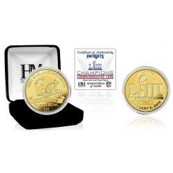 New England Patriots Super Bowl 53 Champions Gold Mint Coin